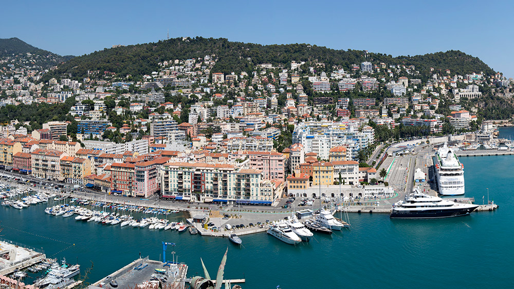 The coastal town of Nice.