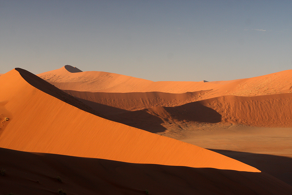 The striking dunes of Namib-Naukluft National Park in Namibia. Photo courtesy of Kierano.