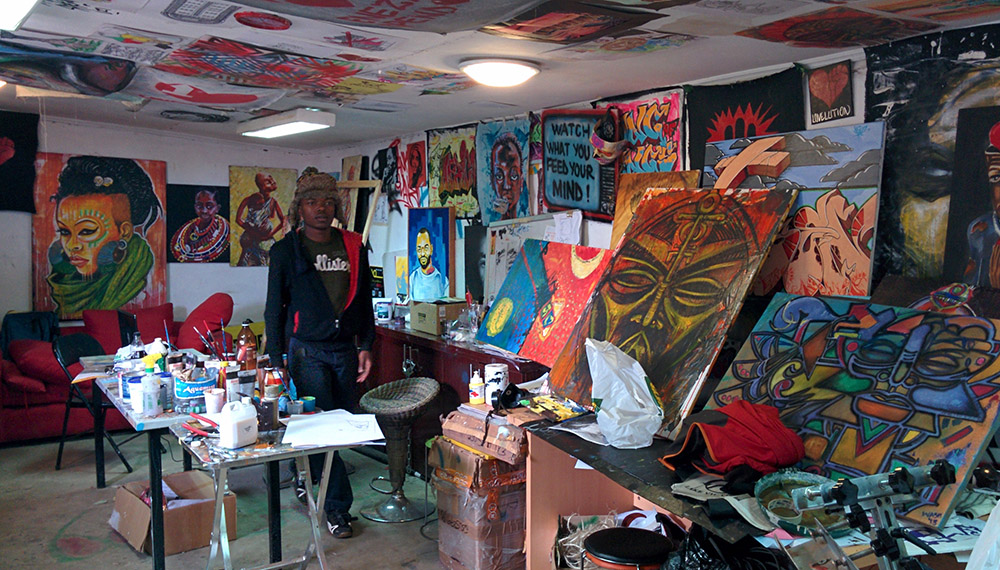A graffiti workshop in Nairobi. Photo courtesy of Jon W.