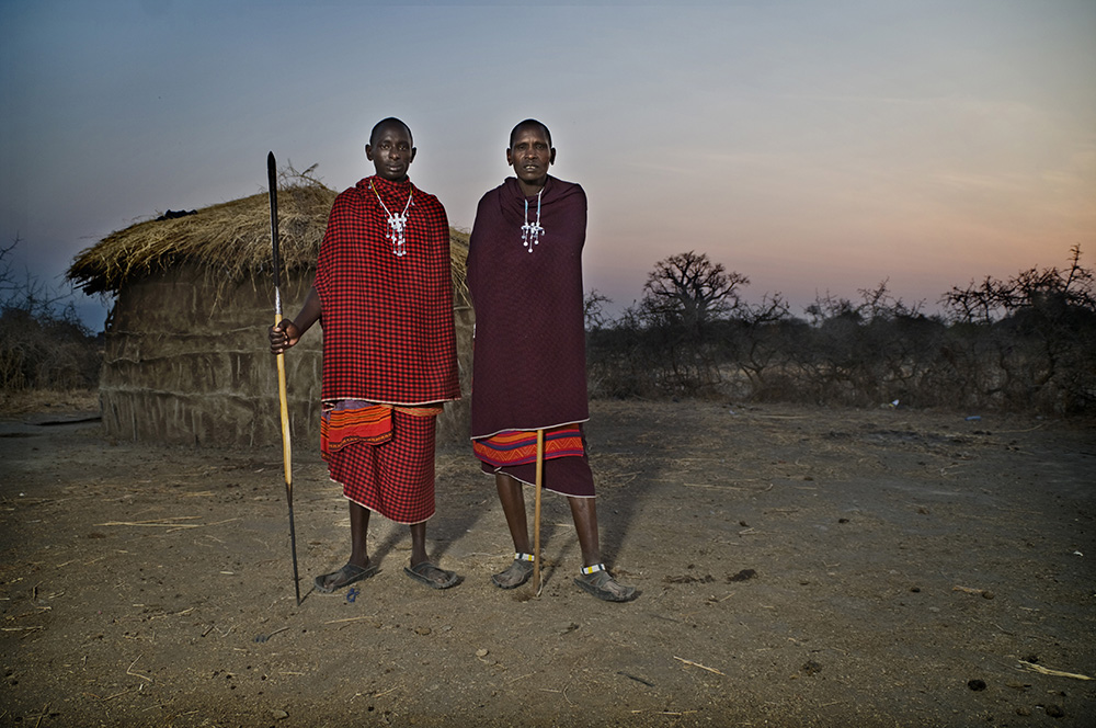 Maasai warriors in Tanzania.