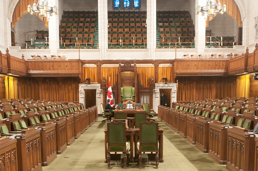 Take a tour inside and see where the Canadian Parliament and Senate sit in session.