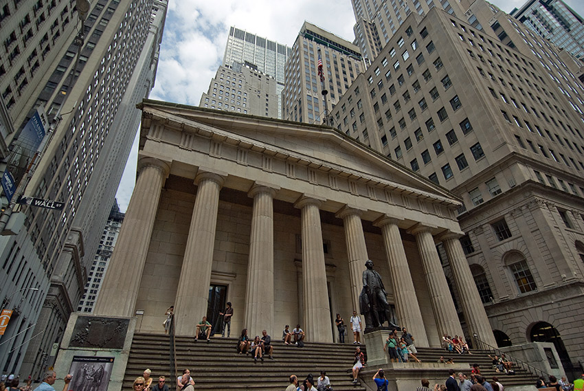 Federal Hall harkens back to the time when New York was the capital of the United States.