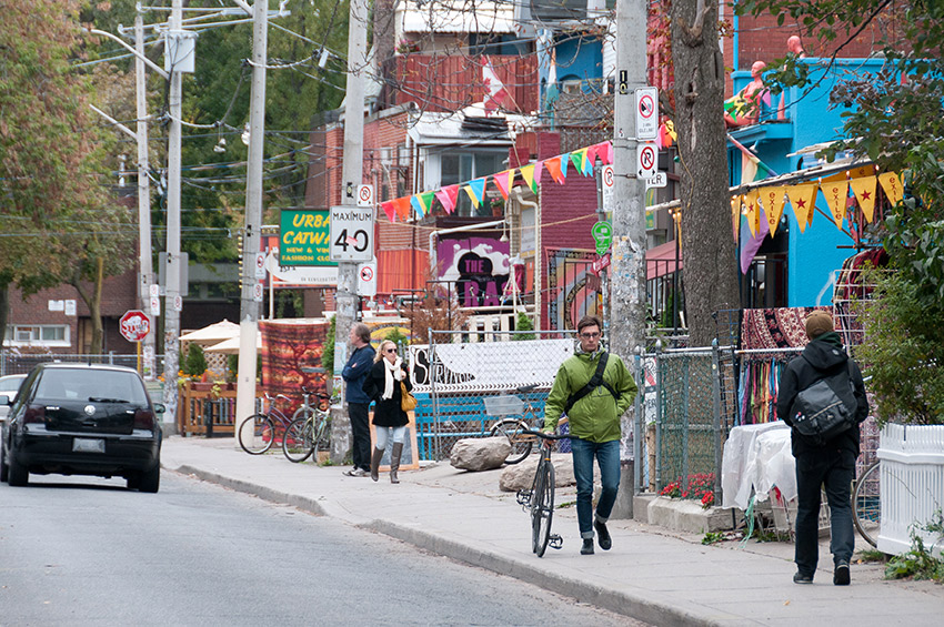It's a spring day in Toronto's Kensington Market.