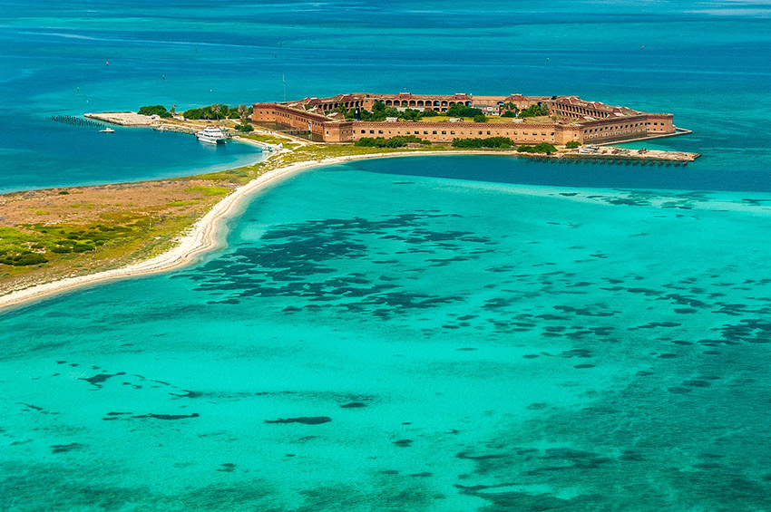 Get to Dry Tortugas NP by ferry or float plane.