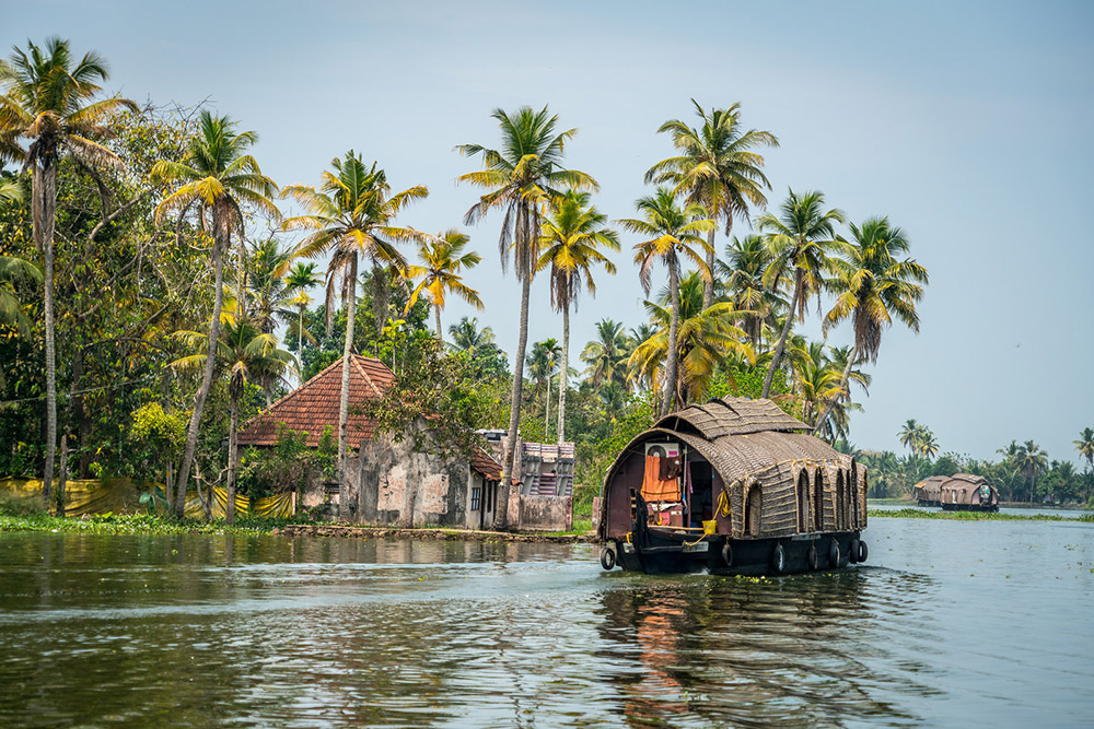 Floating along on the backwaters.