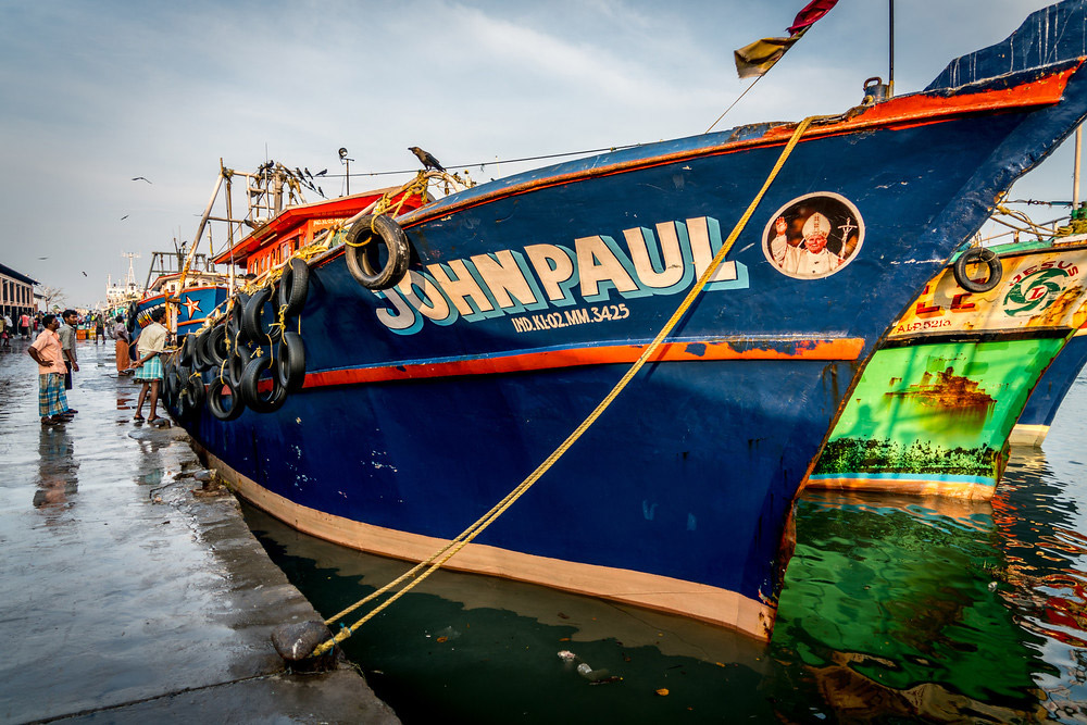 This fishing boat was named after Pope John Paul.