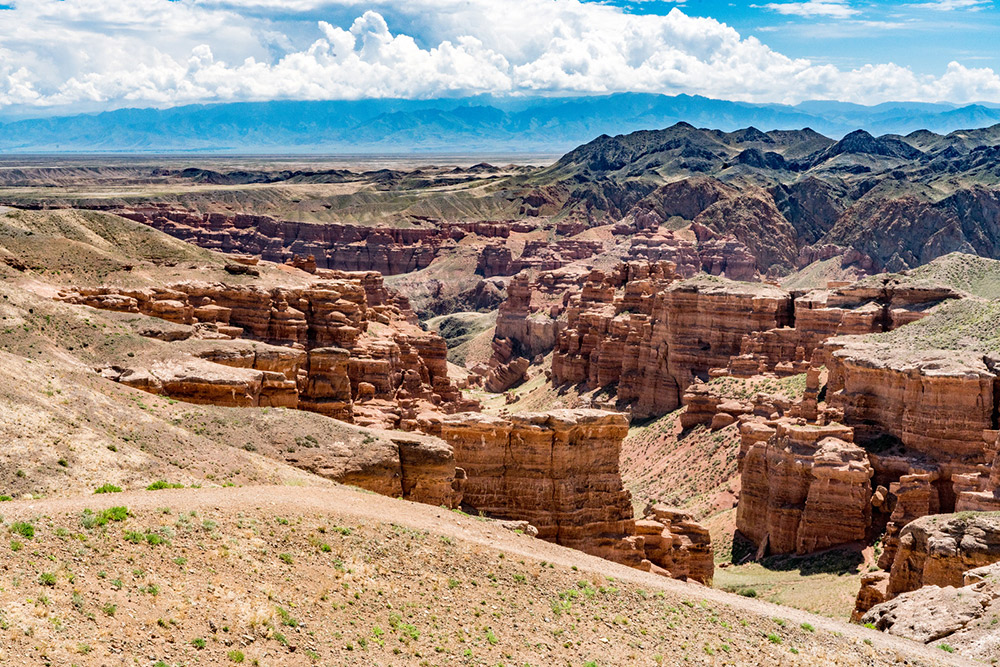 Charyn Canyon in Kazakhstan.