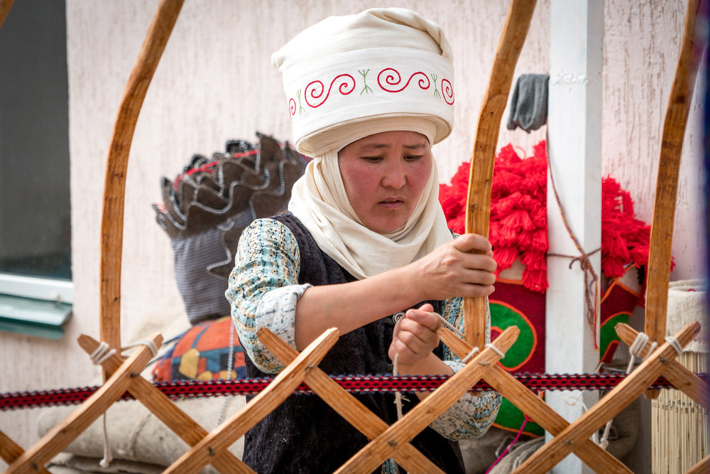 Yurts are an important part of Kyrgyz culture.