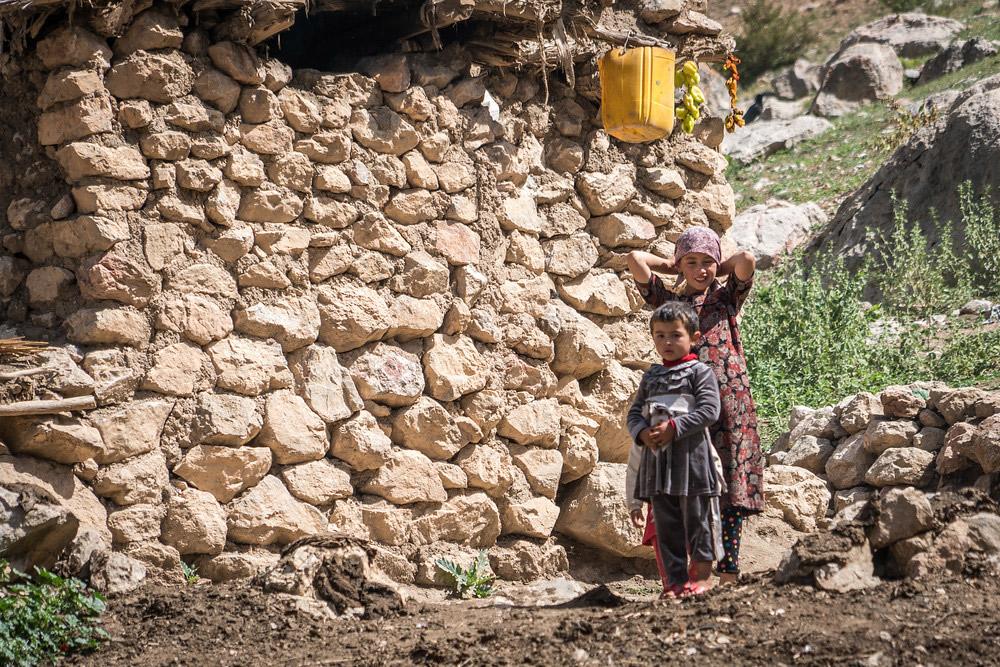 Summer village in Iksanderkul, Tajikistan.