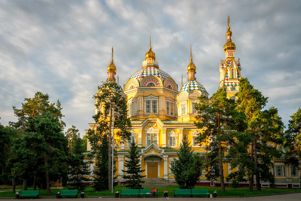 The Russian Orthodox Cathedral in Almaty.
