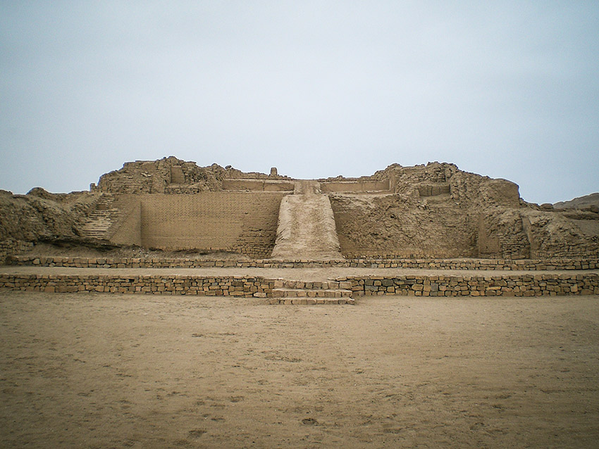 Human sacrifice rituals were performed at the pyramids of Pachacamac.