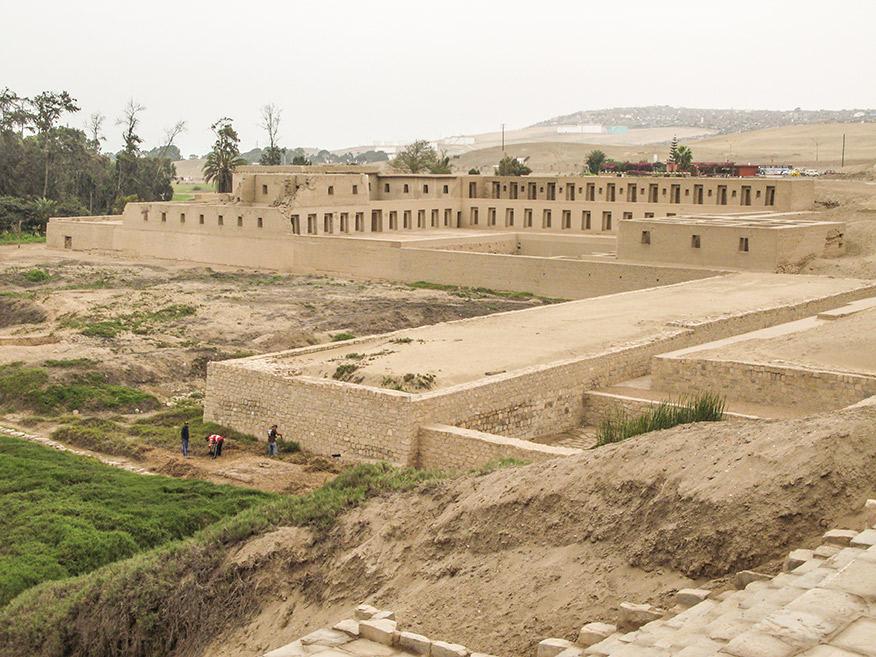 Pachacamac is a massive pre-Columbian citadel complex.