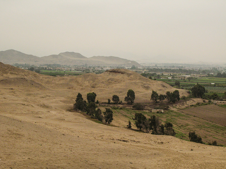 From this vantage point, the outline of Lima could be seen in the distance.