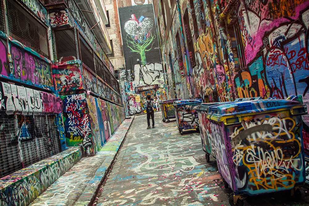 Graffiti Alley in Melbourne.
