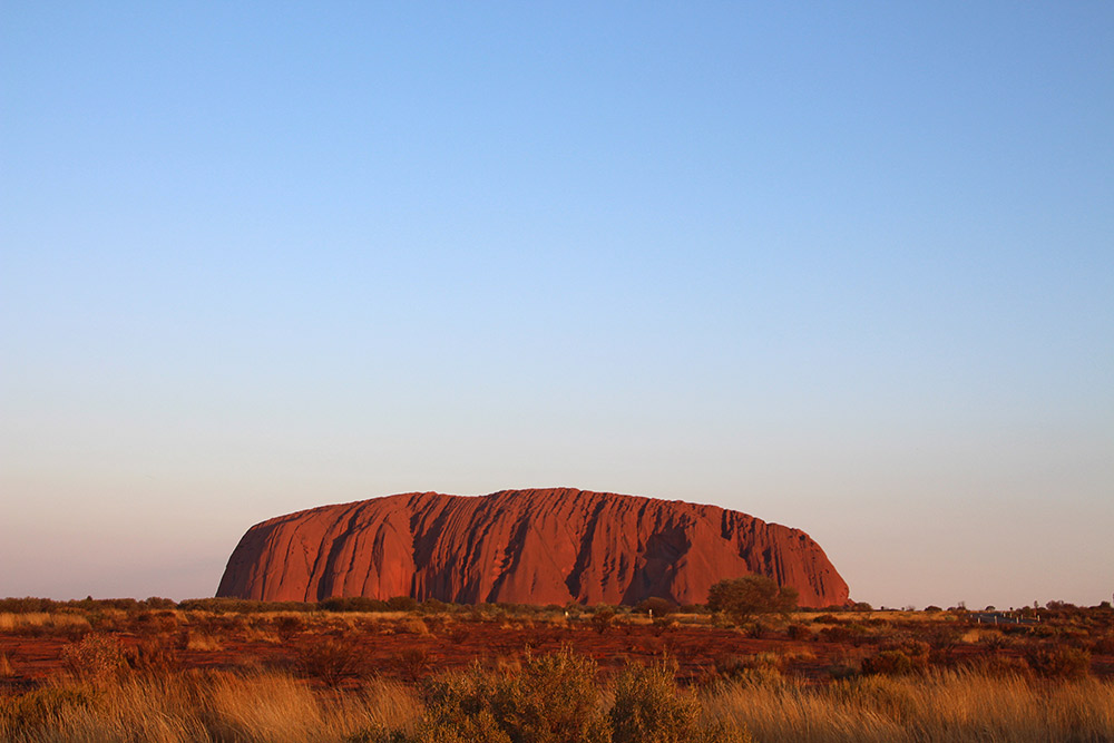 Golden hour at Uluru in Australia's Red Centre.