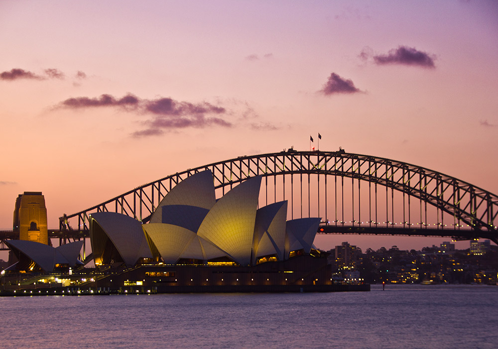 The iconic Opera House in Sydney.