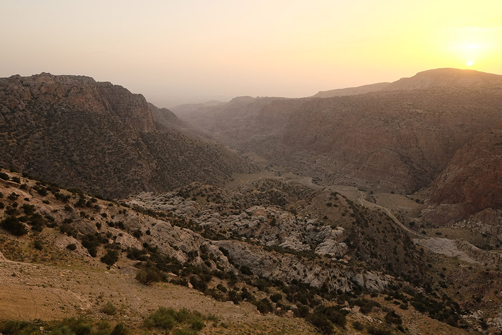 The Dana Guesthouse has arguably one of the best views in all of Jordan.
