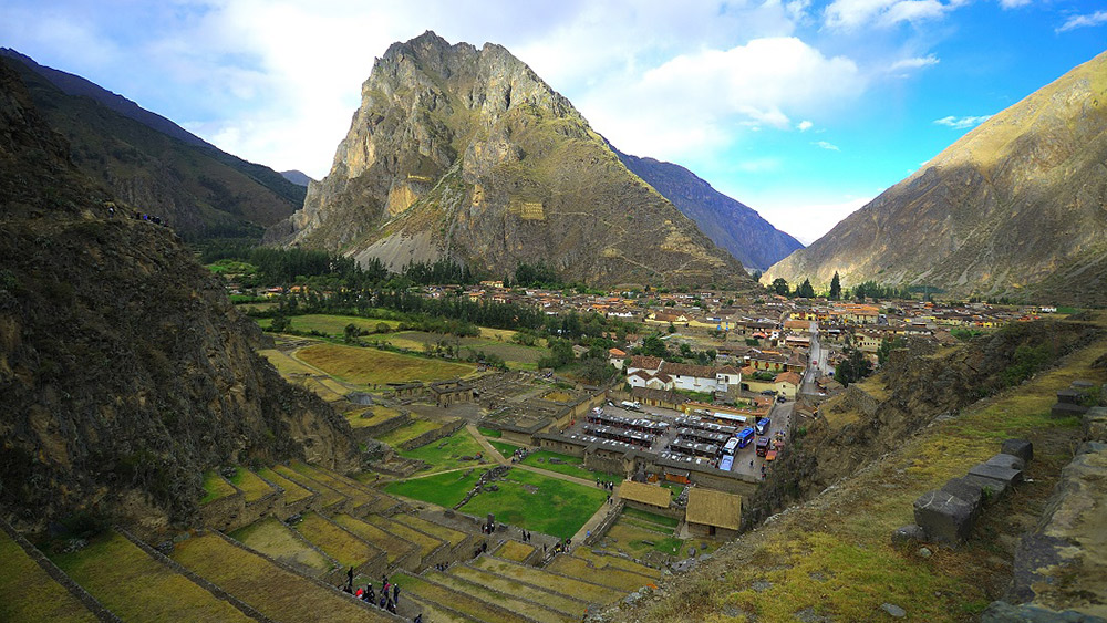 Take the path up and around the stone terraces for amazing views of Ollantaytambo. Photo courtesy Thibault H.