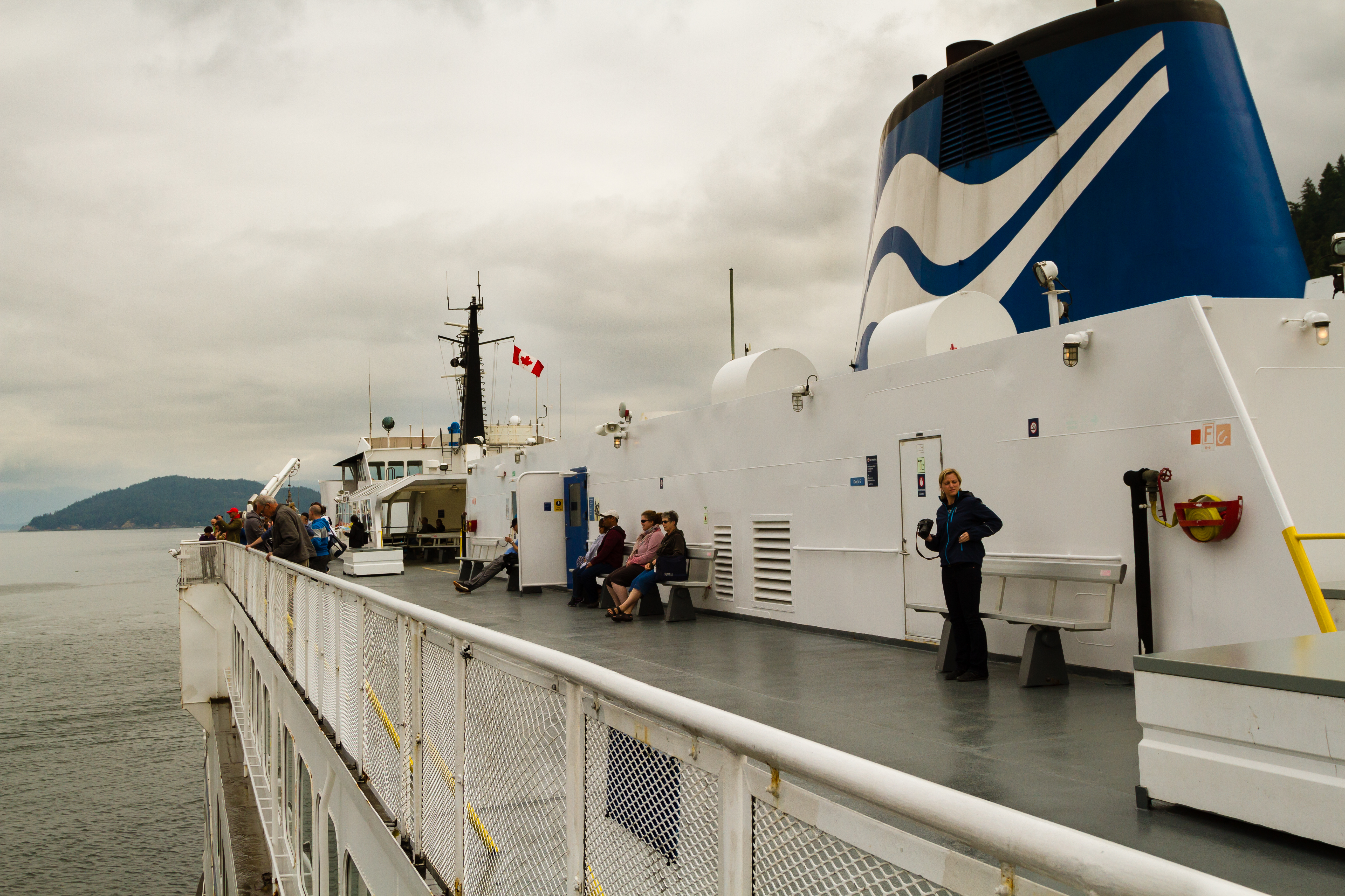 Crossing the Salish Sea from Vancouver to Vancouver Island.