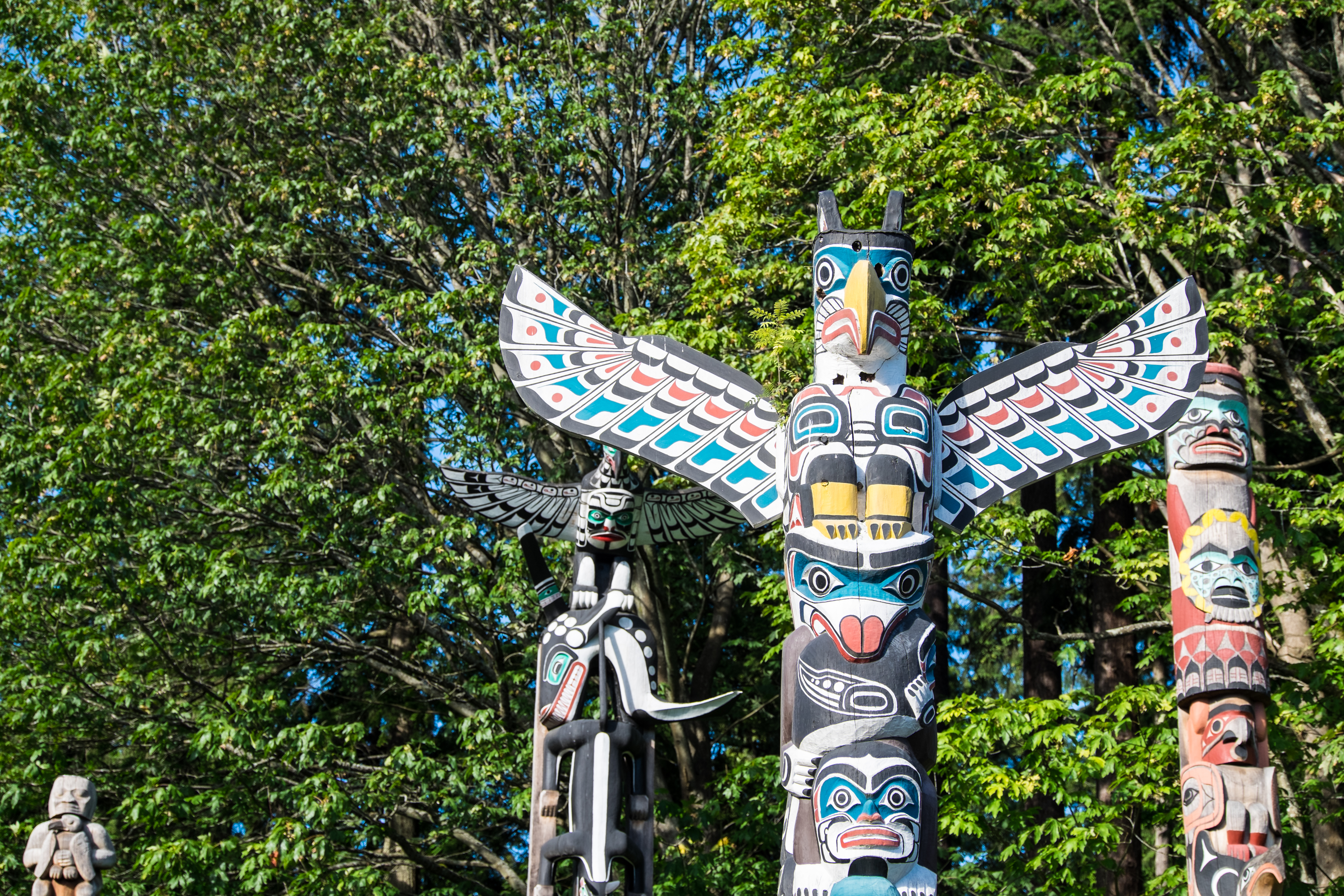 Exploring First Nations culture and art at Stanley Park.