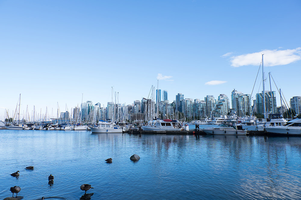 Vancouver's waterfront has views for days.