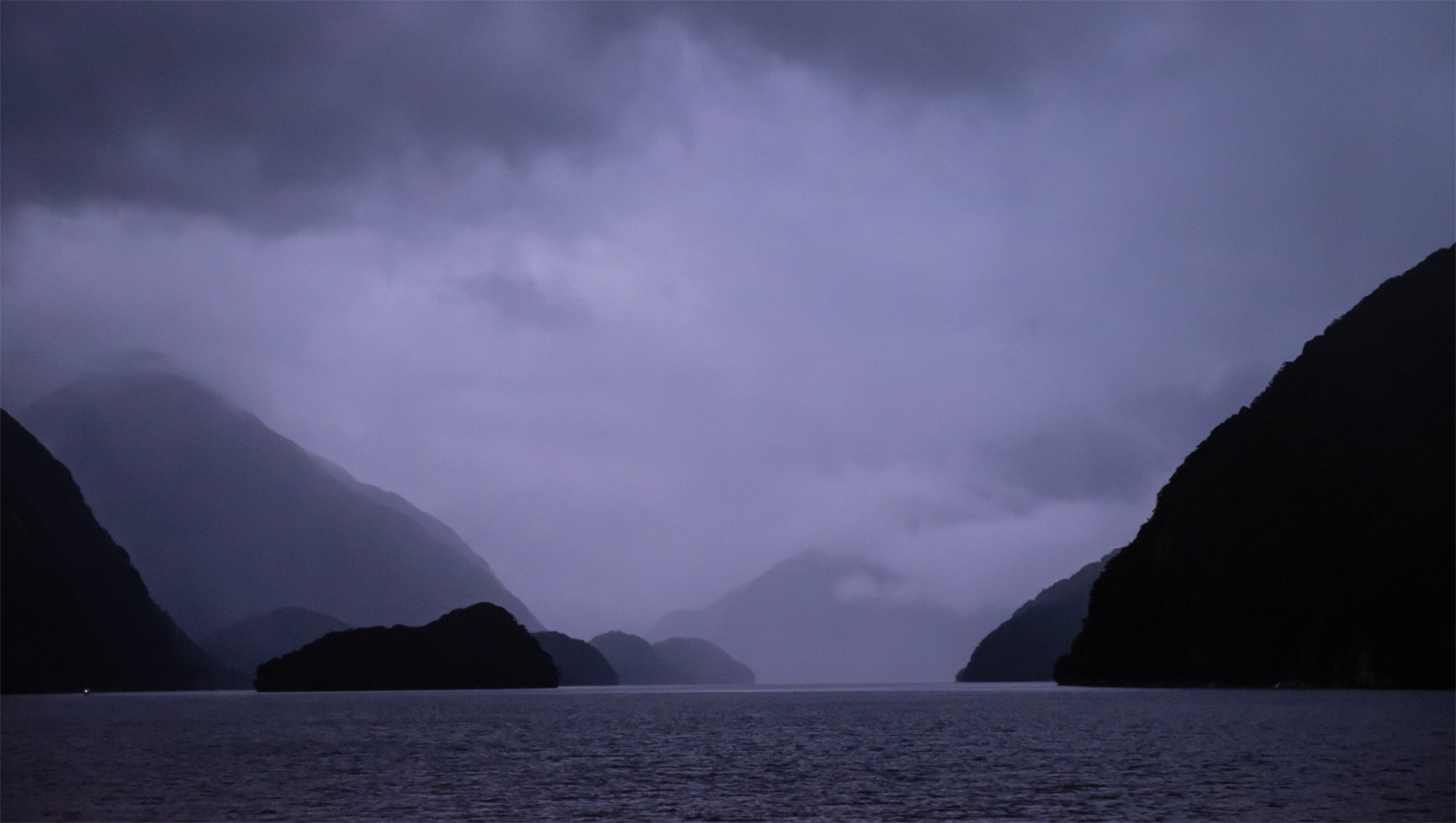 Doubtful Sound at dawn.