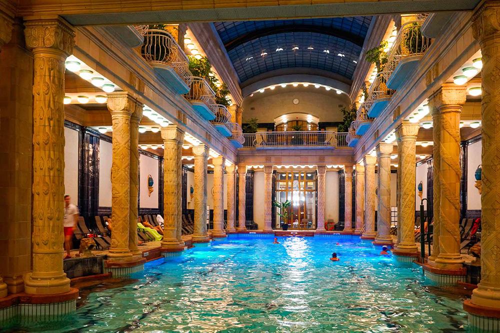 Hungary's Gellert Baths call visitors to linger.