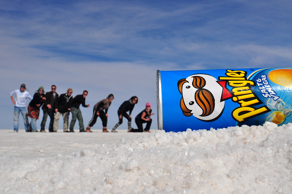 The camera is on the ground, just like this can of Pringles. Photo courtesy Nyall.