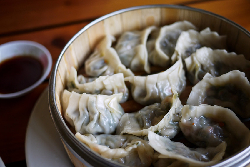 Dumplings in Yangshuo, China. Photo courtesy Shannon O'Donnell of A Little Adrift.