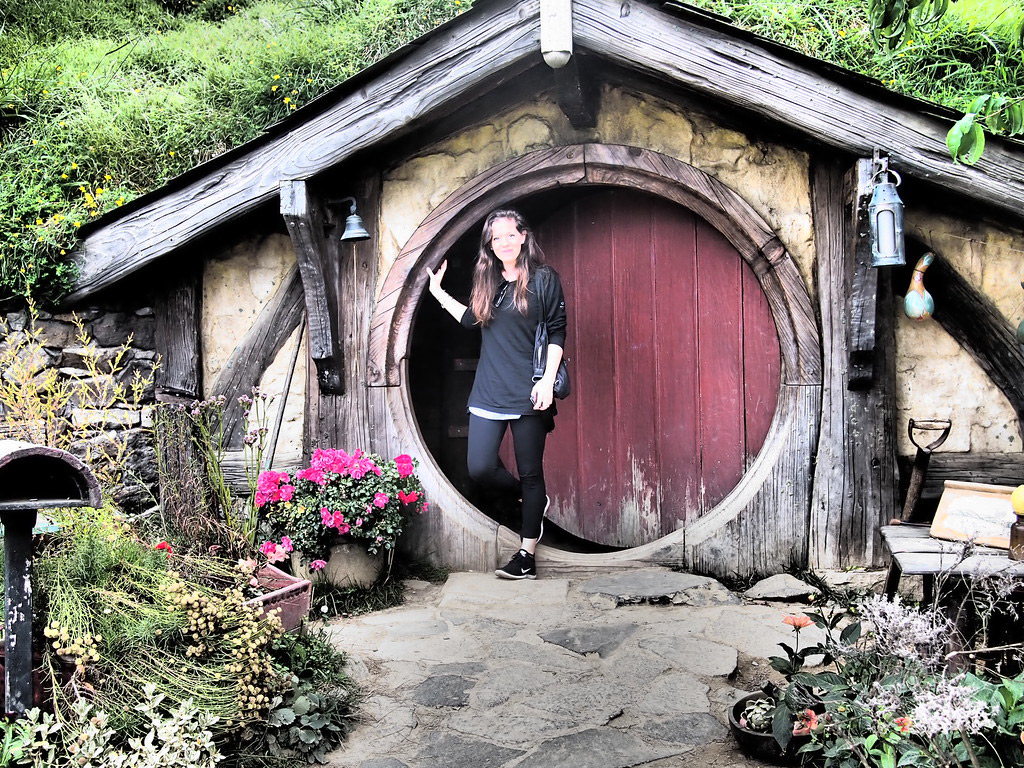 The Hobbiton movie set in Matamata.