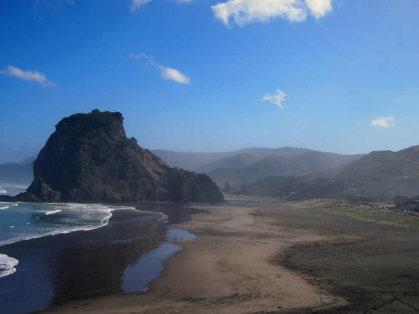 The views at Piha can't be beat.