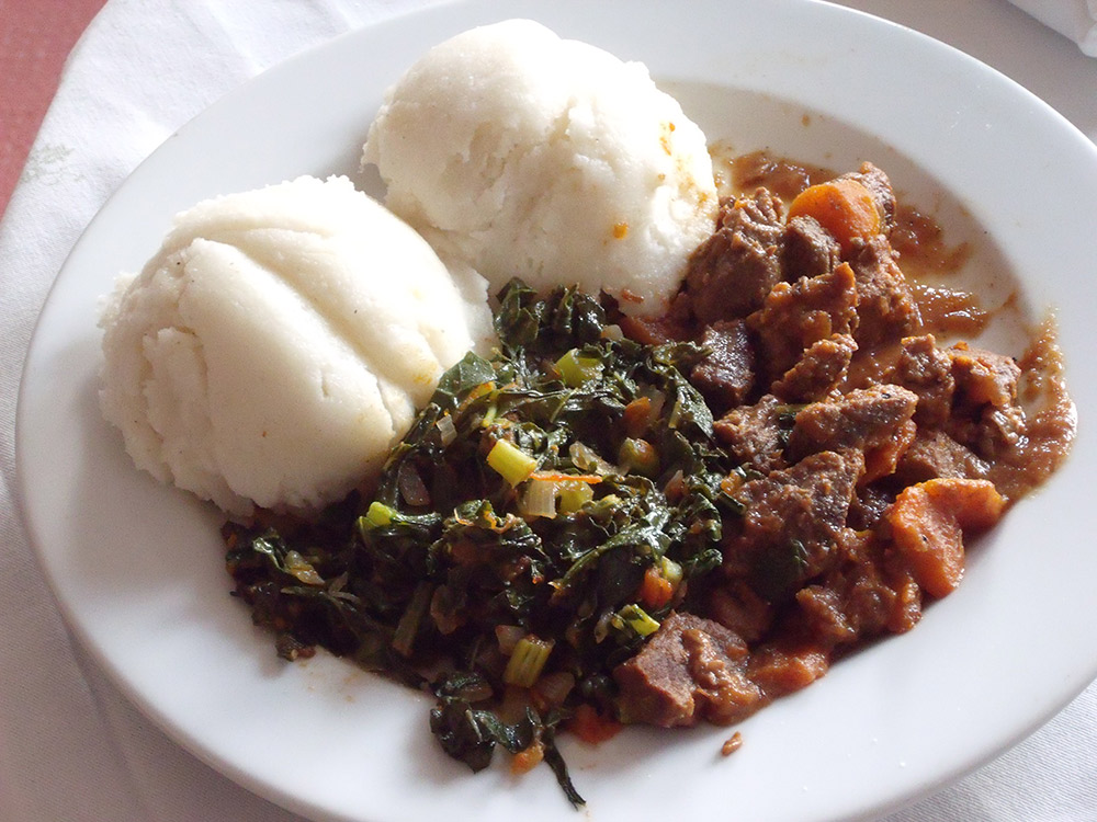 Sadza is Zimbabwe's national carb. Photo courtesy BBC World Service.