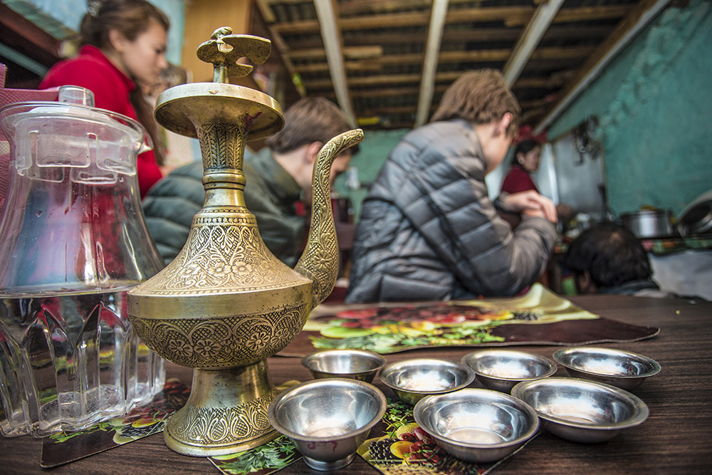 A tea experience at the Panauti homestay in Nepal.