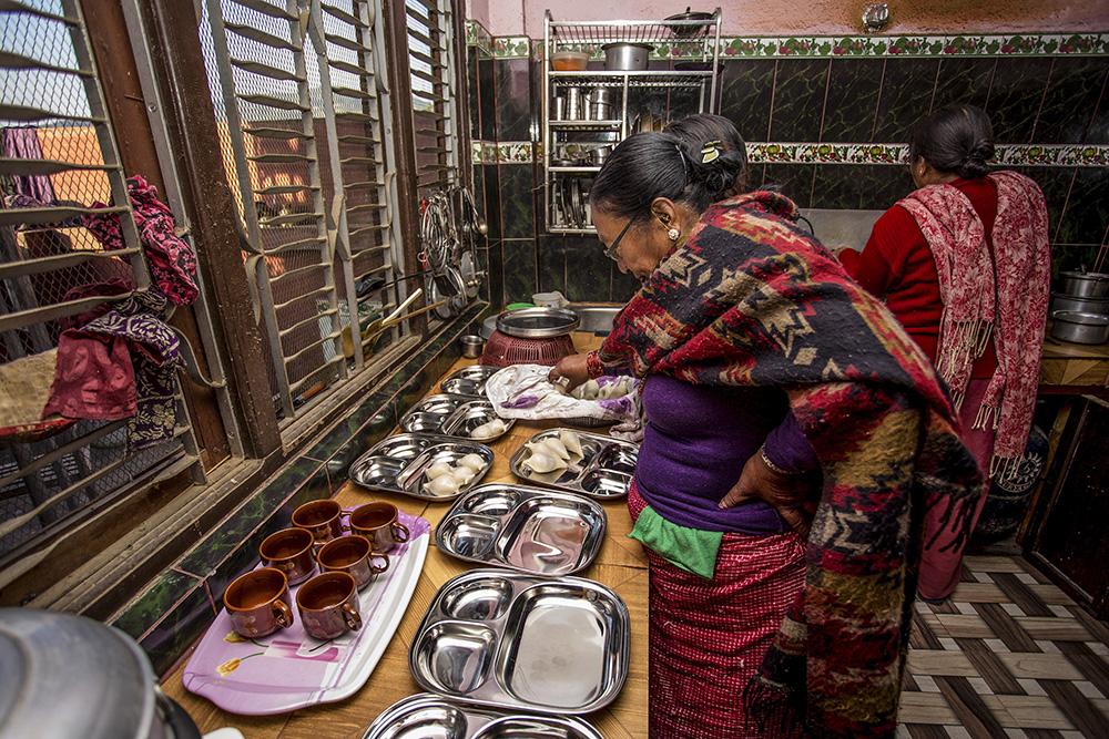 Homestay hosts in Nepal.