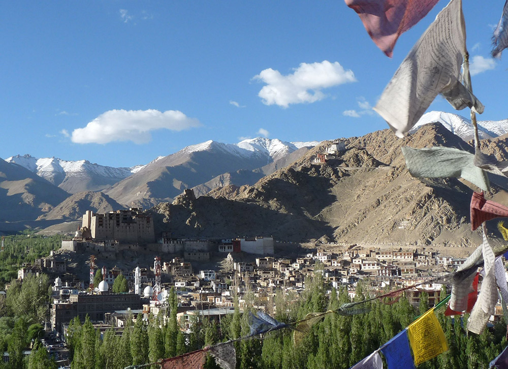 Looking down on the capital of Ladakh, Leh. Photo courtesy Mark Elliott.