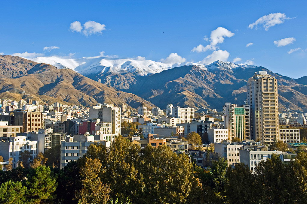 Around 9 million people live in Iran's capital, Tehran.