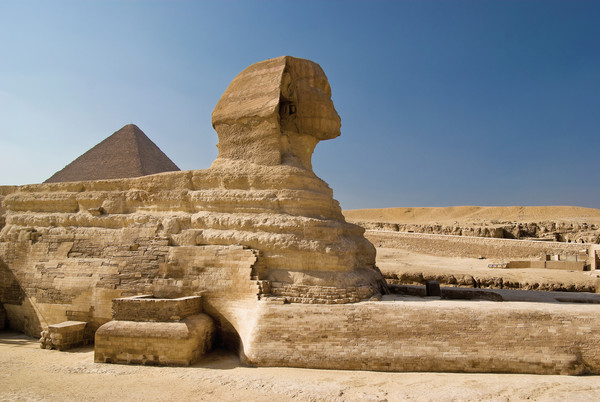 Much about the Great Sphinx remains locked in riddles to this day. The surrounding pyramids house the tombs of pharaohs Khufu, Khafra and Menkaure.