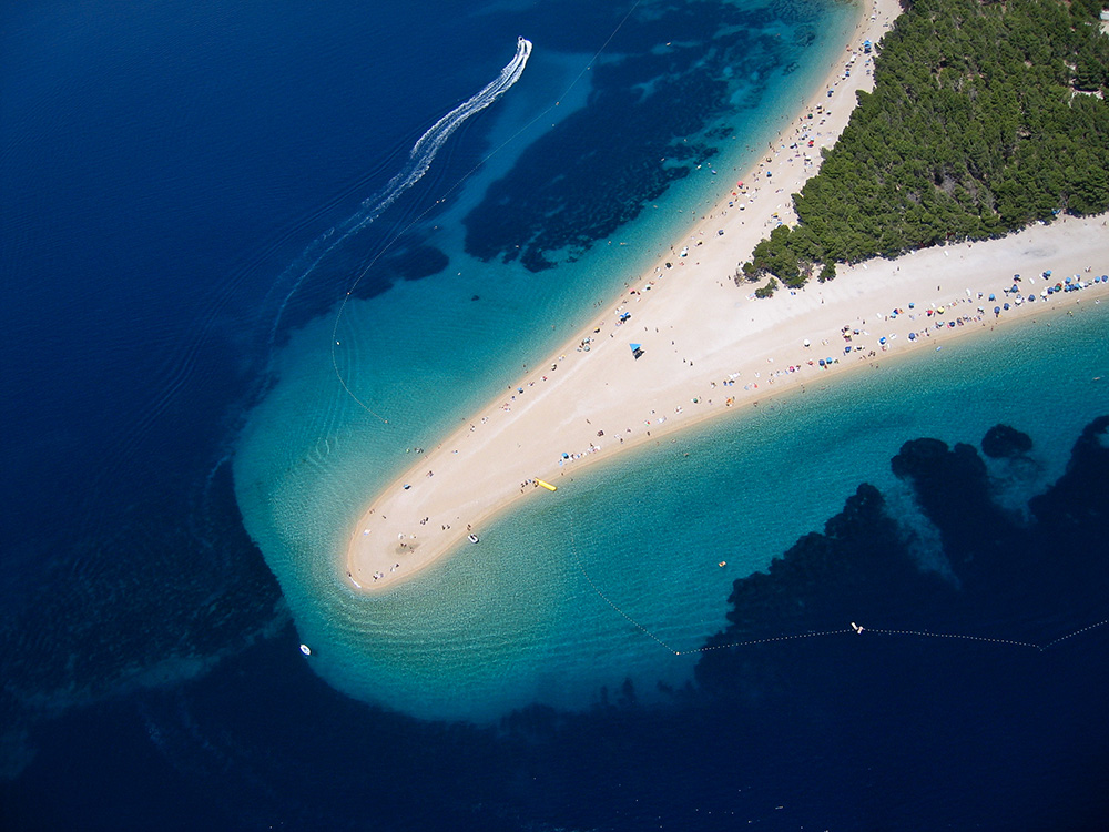 Zlatni Rat is Croatia's most famous beach. Photo courtesy of Szabolcs E.