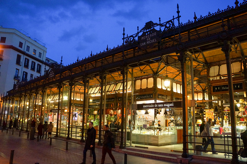 The Mercado de San Miguel at night. Photo courtesy of Ruben E.