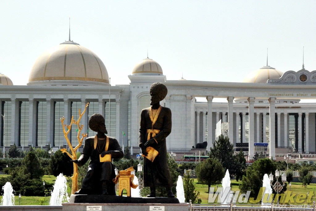 Sculptures in Ashgabat.