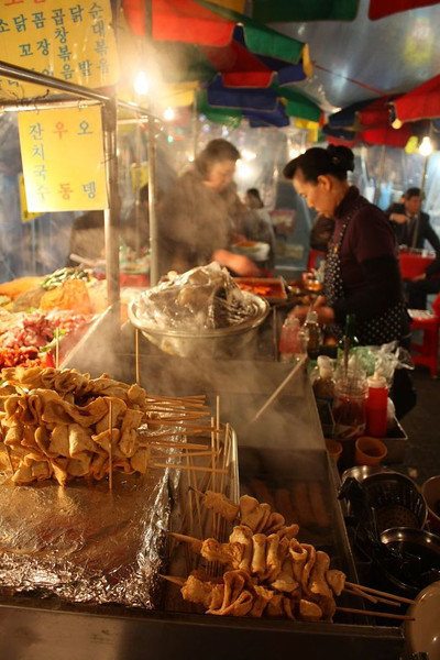 Street food in Namdaemun.