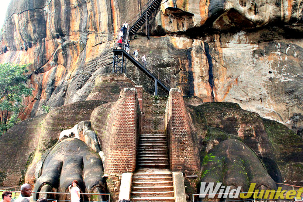 The climb up Sigiriya Rock may be steep, but the views are well worth it.