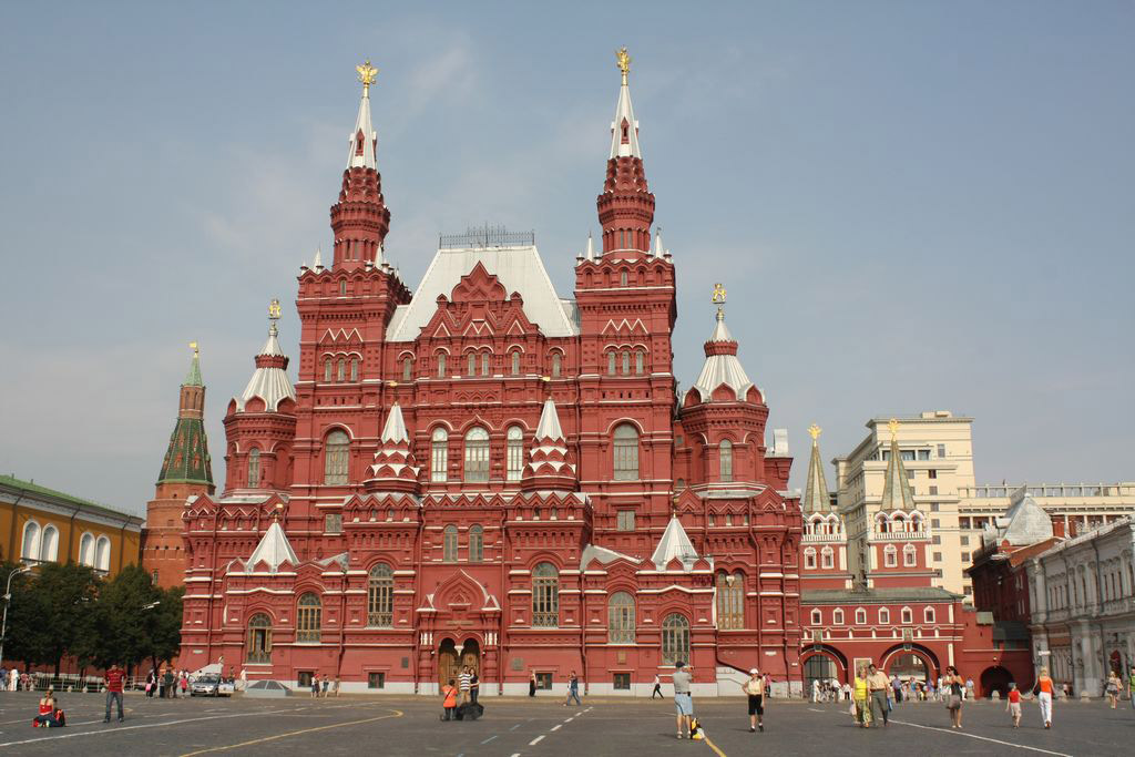 The State Historical Museum at the Red Square.