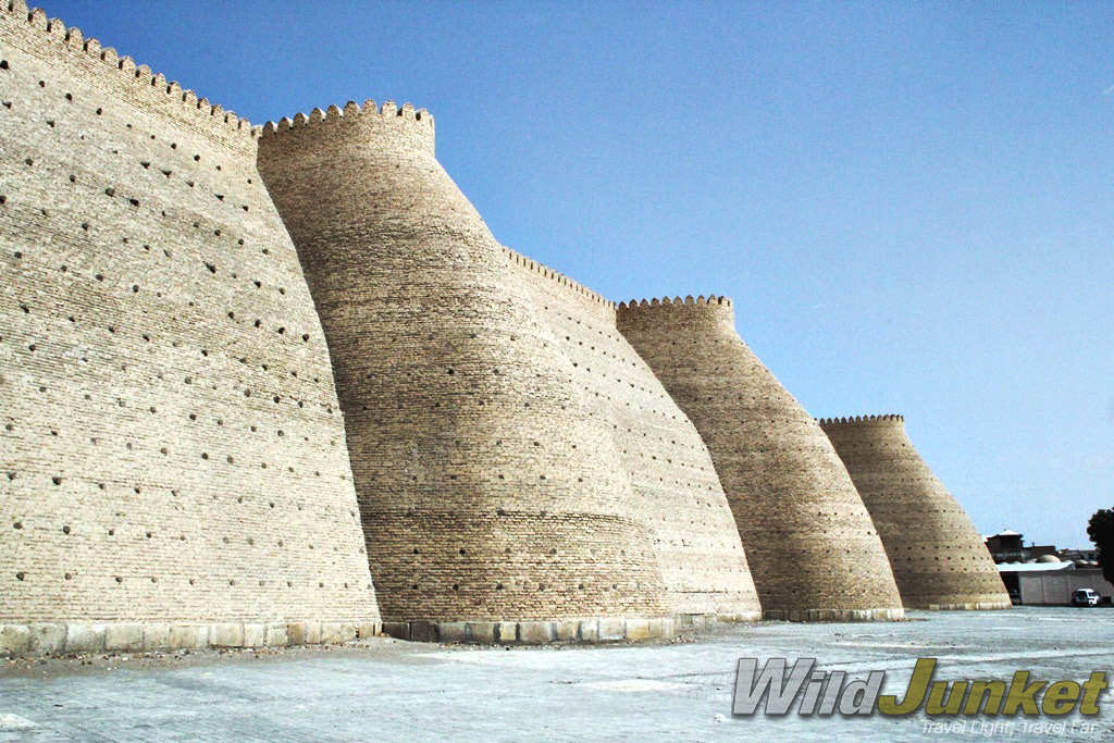 The walls of the Ark of Bukhara.