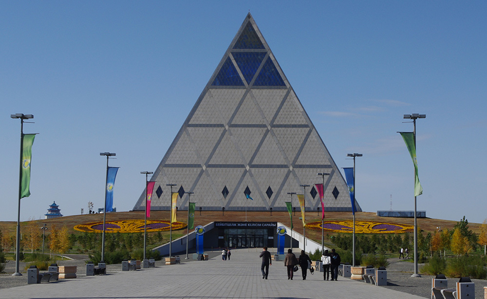 The pyramid-shaped Palace of Peace and Accord. Photo courtesy of Ken & Nyetta.