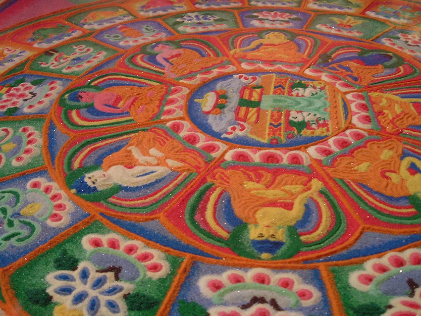The impermanence of the sand mandala is kind of the point. Photo courtesy John S.