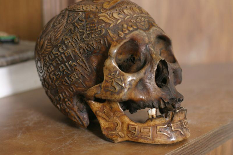 The skull is a symbol for overcoming our faults. Photo courtesy Gus B.