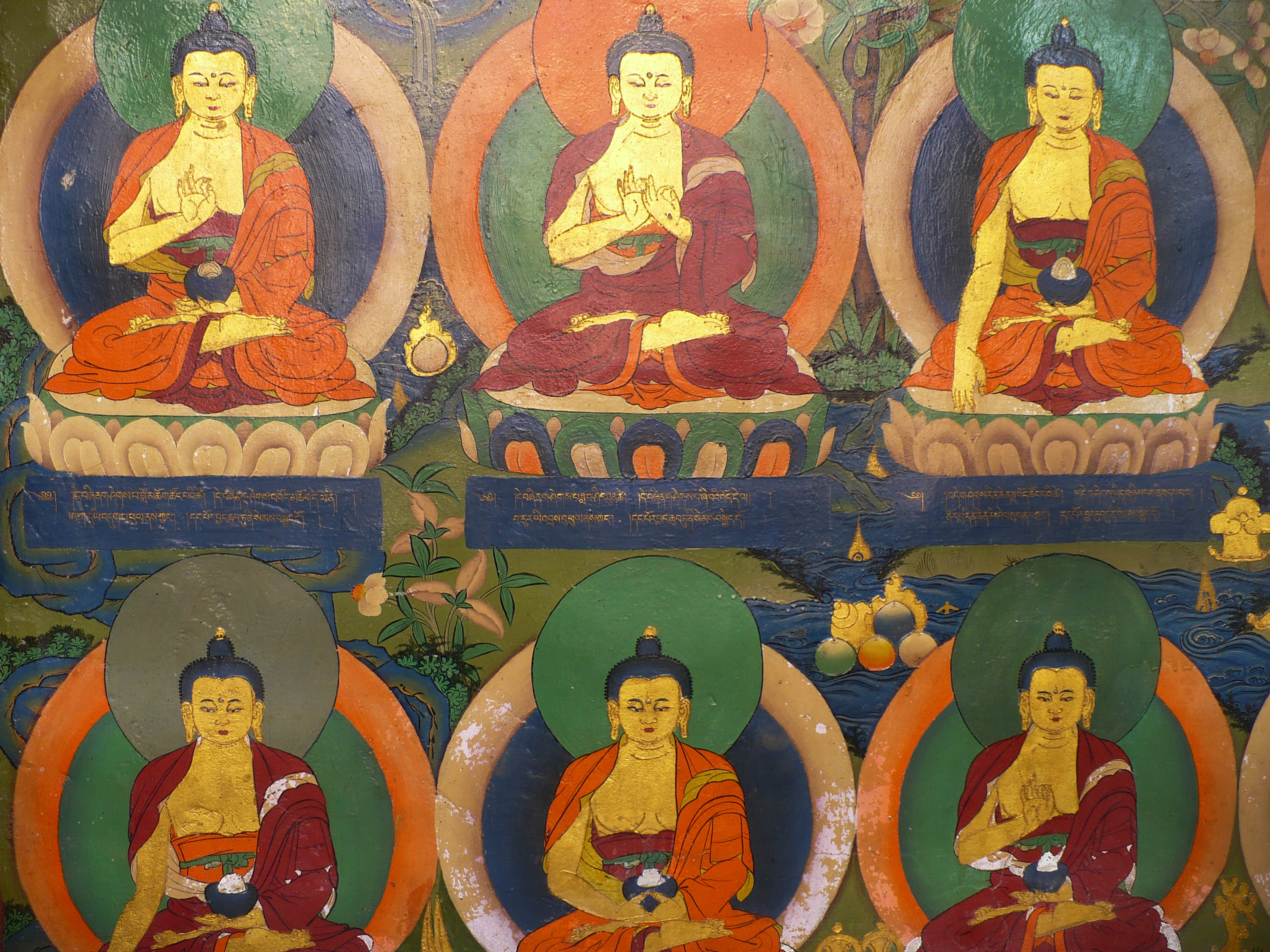 Each seated pose of the Buddha carries a different meaning.