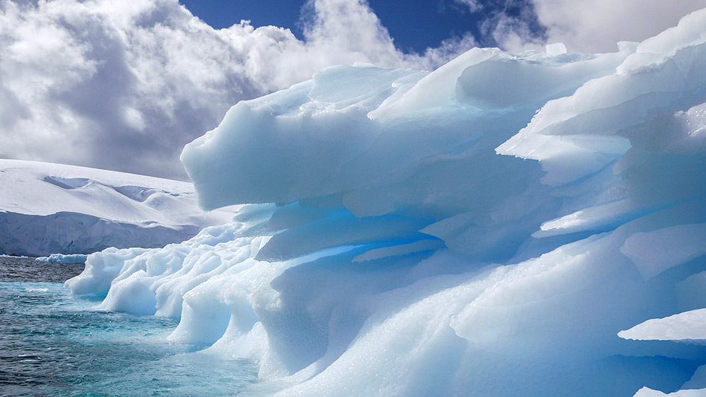 Ice and sky in Antarctica.