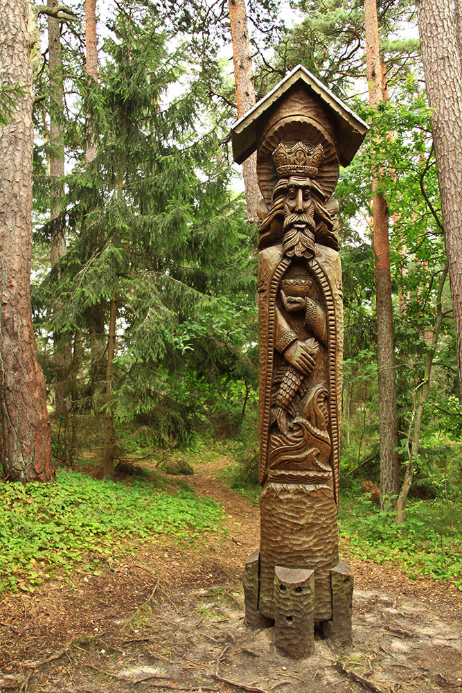 Wooden statues stand tall on the Hill of Witches. Photo courtesy Chris B.